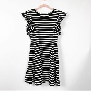 Kate Spade Fit and Flare Striped Mini Dress #0413
